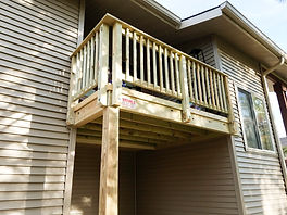 Pressure Treated Wood Balcony Porch Apartment Townhouse Naperville Illinois