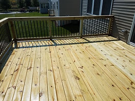 Pressure Treated Wood Deck Deckorators Aluminum Balusters Aurora Illinois