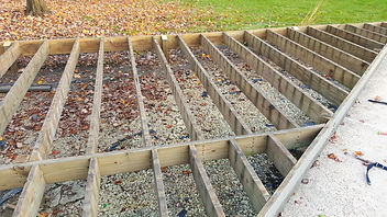 Wood Frame Re-Deck Existing Frame Cocrete Footings TimberTech Decking Naperville Illinois
