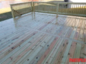 Pressure Treated Wood Deck Yorkville 8x1