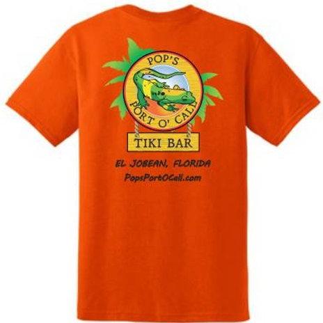 Pops Port O Call Logo Tee's Orange