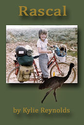 Book, Rascal, girl on bicycle, pet emu