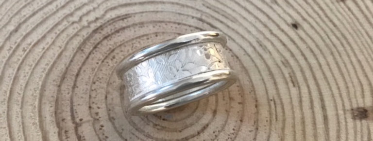 Silver Hibiscus Ring