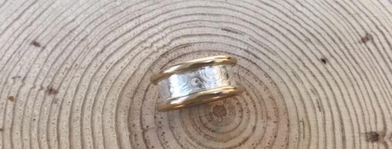 Gold Hibiscus Ring