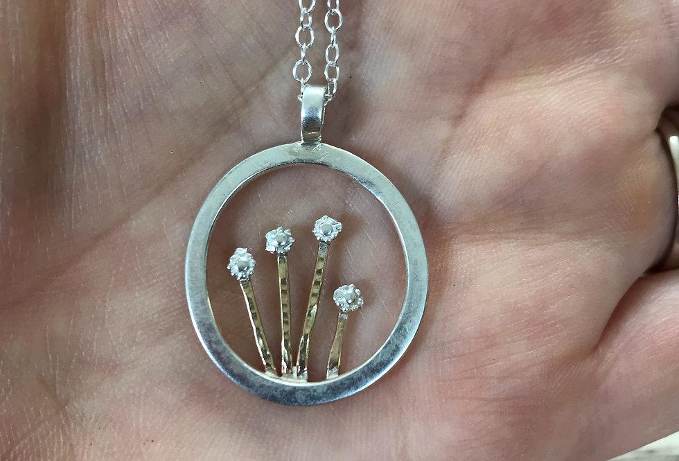 Floral frame pendant
