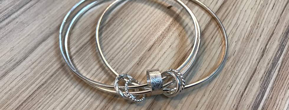 Sterling Silver charm Bangles