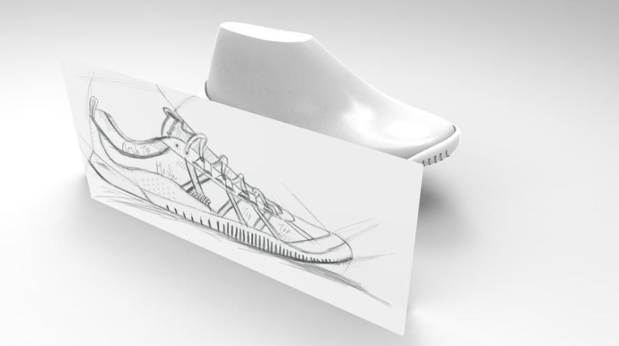 3D Footwear Sketch