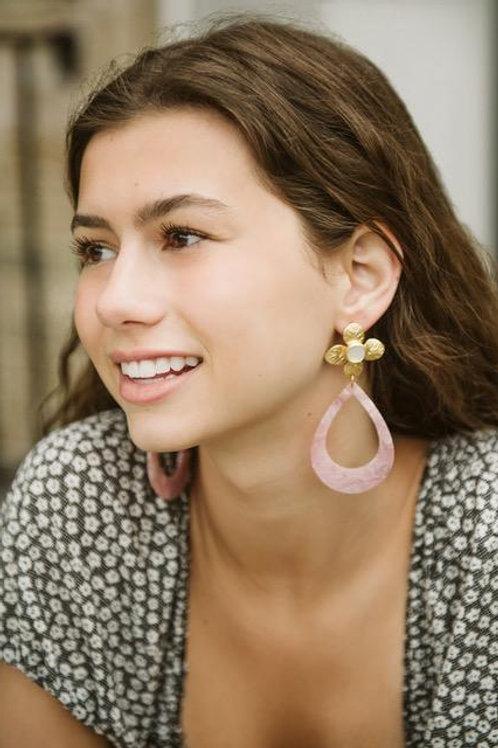 Pretty in Pink Teardrop Earrings by MaddAlex