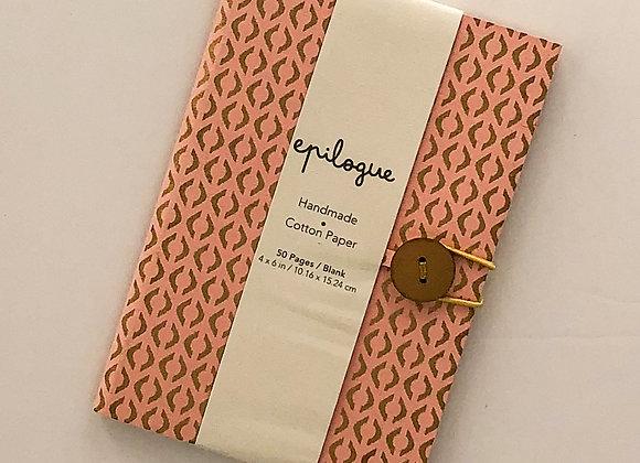 Pink Diamond Hand-Made Cotton Notebook