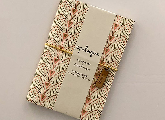 Pink/Gold & Gray Hand-Made Cotton Notebook