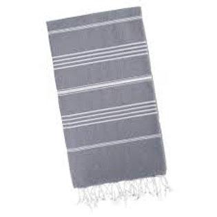 Turkish Classic Striped Peshtemal Dish Towel - Grey
