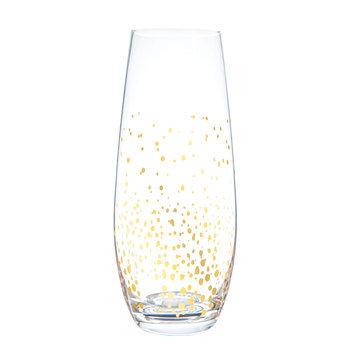 Confetti Stemless Champagne Flute