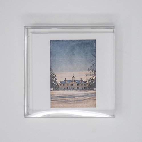 Mount Vernon in the Snow Mini Notecards