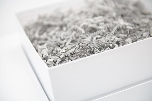 Box, Gray Fill & Notecard