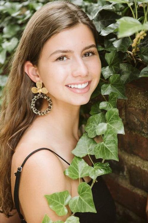Blooming Cheetah Hoop Earrings by MaddAlex