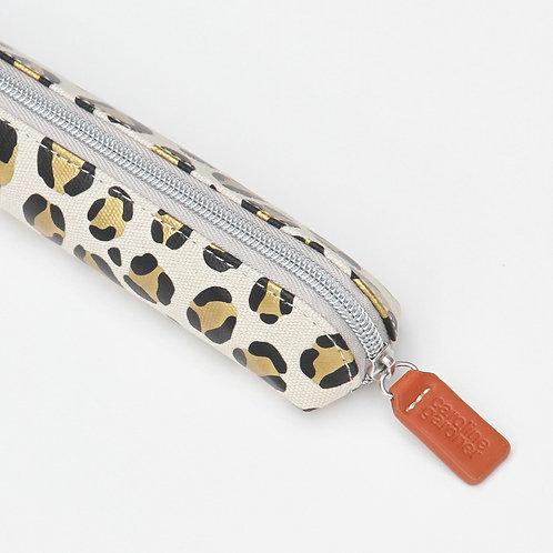 Leopard Canvas Small Pencil Case