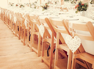Trestle-Tables-with-Wooden-Folding-Chair