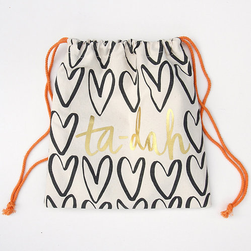 Outline Hearts Bikini Bag