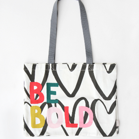 Be Bold Canvas Tote Bag