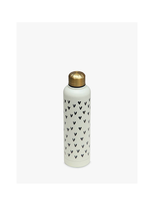 Hearts Metal Water Bottle, 550ml
