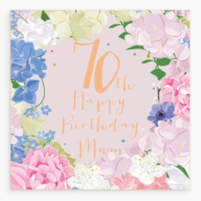 Happy 70th Birthday Mum