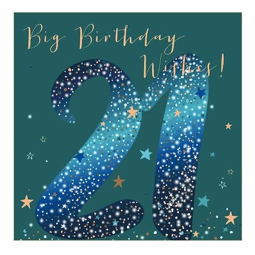 Big Birthday Wishes 21st