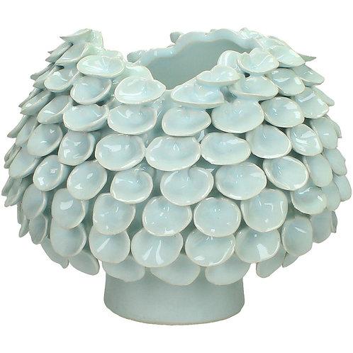 Petal Light Grey Ceramic Vase Small