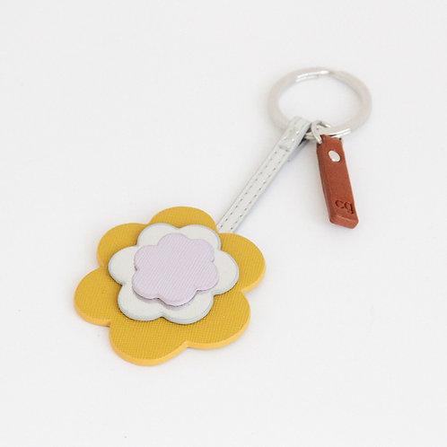 Flower Layered Keyring