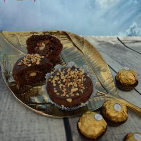 Muffins mit Rocher-Herz