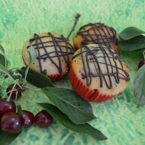 Leichte Kirsch-Muffins