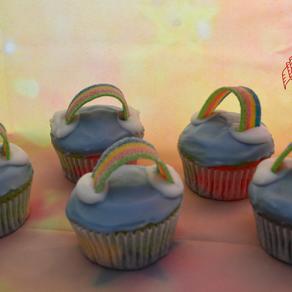 Rainbow-Muffins