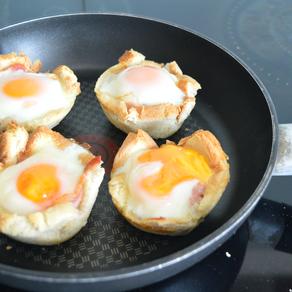 schnelle Schinken-Ei-Muffins