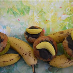 Schnelle Schoko-Bananen-Muffins