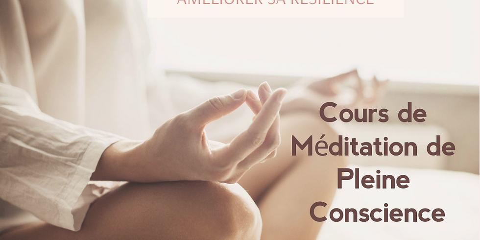 Cours de méditation de pleine conscience