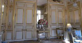 ديكور جدار حائط فرنسي فاخر مذهب