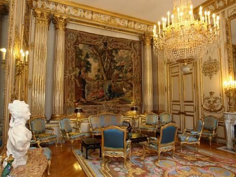 صور الديكورات الداخلية لقصر الإليزيه في باريس فرنسا