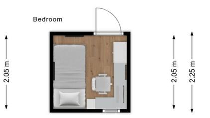 تصميم غرفة صغيرة 4 متر مربع فقط