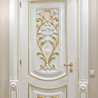 تصاميم أبواب خشب فاخرة جدا ديكورات خشبية مذهبة فاخرة