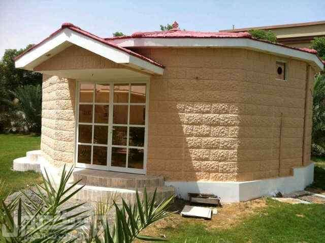 بيوت جاهزة واجهه ديكور حجر