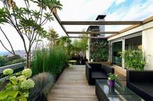 تصاميم و أفكار ديكورات حدائق خارجية في السطح او الملاحق العلوية الرووف