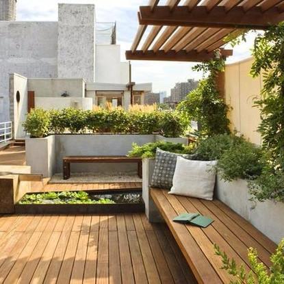 حدائق منزلية في السطح الملحق الرووف