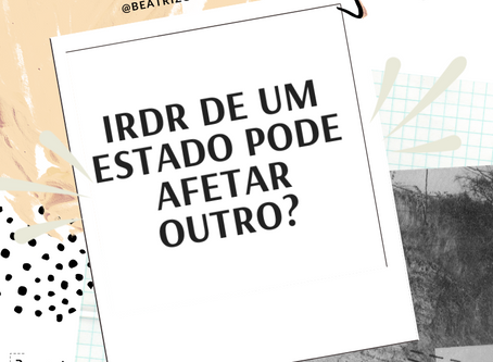 TJ de Sergipe vai julgar um IRDR. Pode suspender meu processo em SP?