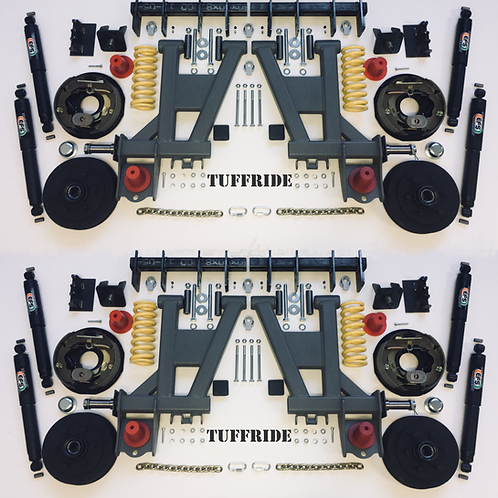 "Tuffride 10"" 4 Arm Kit with Twin Shocker 2900-3300kg @735mm Dia."