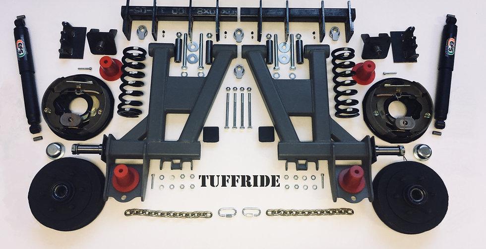 "Tuffride 10"" 2 Arm Kit with Single Shocker 1250-1500kg @735MM Dia."