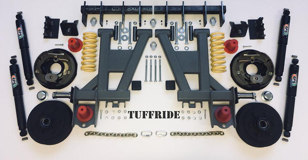"Tuffride 10"" 2 Arm kit with Twin Shocker 1500-1600kg @735mm Dia."