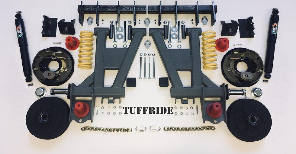 "Tuffride 10"" 2 Arm Kit with Single Shocker 1500-1650kg @735MM Dia."