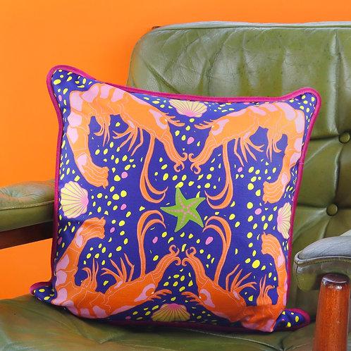 Crustacean Cushion -  Blue