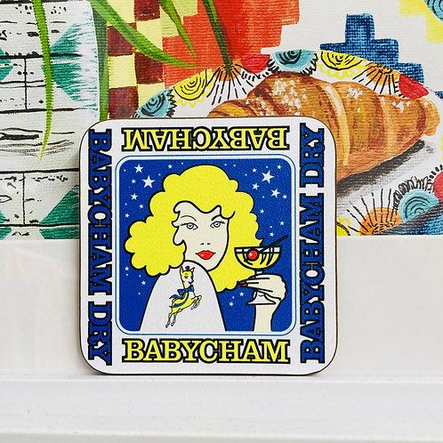 Babycham Coaster - Blonde Lady