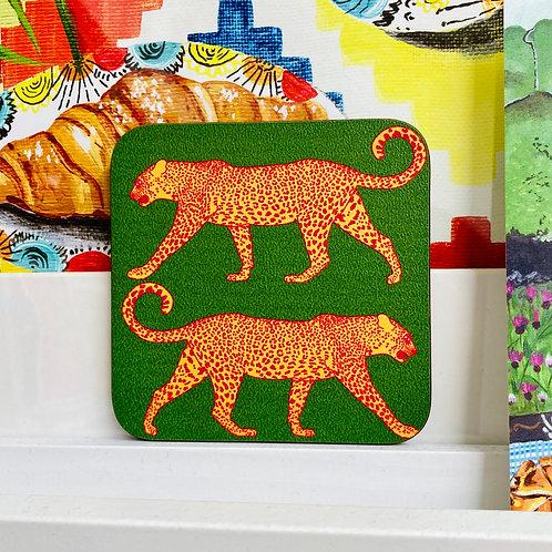 Leopard Coaster - Green