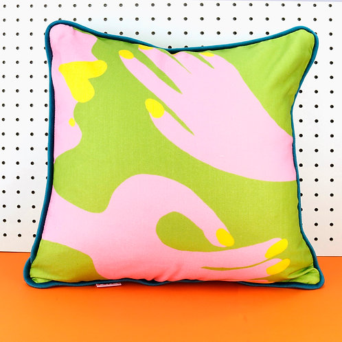 Abstract Hands Cushion